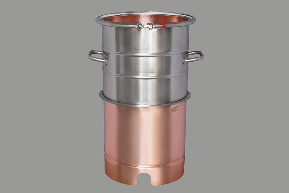 Вставка медная с увеличением объема  +20 литров, для кубов 25 и 27 литров D320