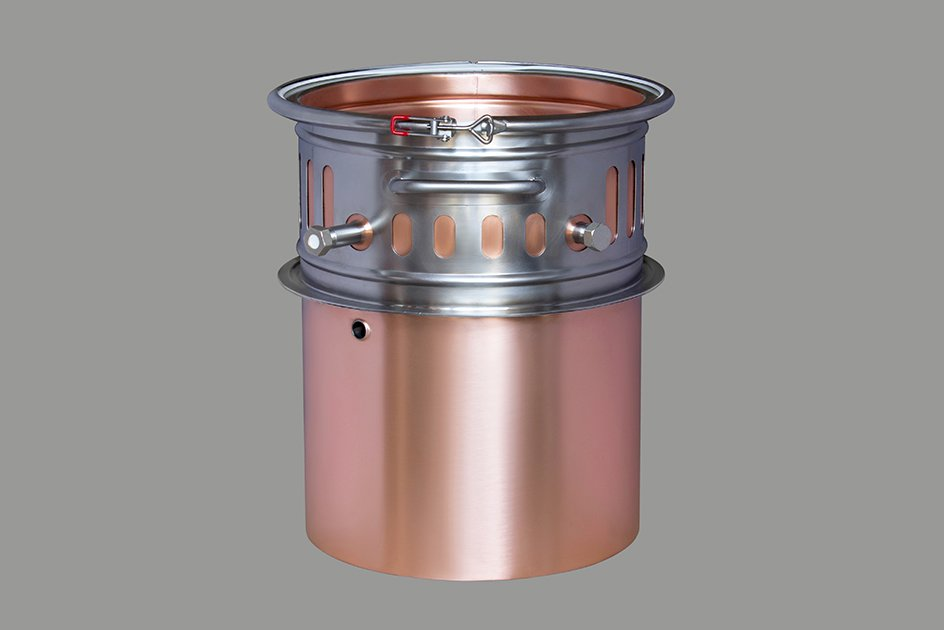 Вставка-вкладыш медная для водяной и паровой рубашки к кубу 27 литров D320