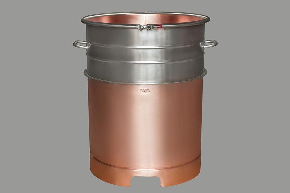 Вставка медная с увеличением объема  +50 литров, для кубов 100 литров D530