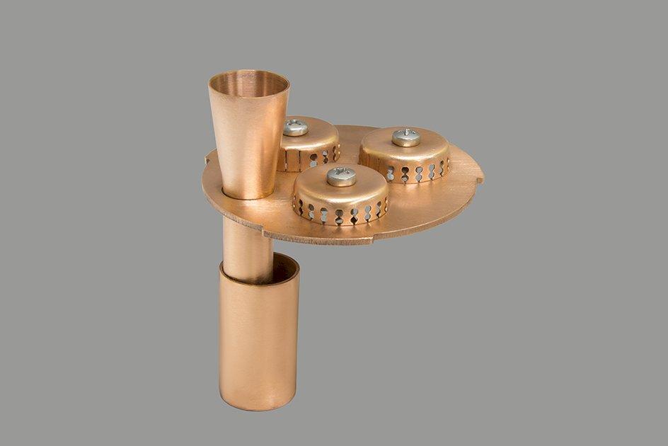 Медная тарелка для модульной тарельчатой колонны Д80 серии ВАКУУМ