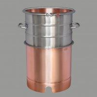 Вставка медная с увеличением объема  +21 литр, для кубов 37 литров D360