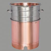 Вставка медная с увеличением объема  +21 литр, для кубов 50 литров D400